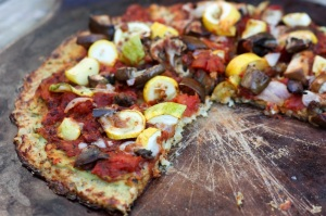 Making pizza with a cauliflower crust (click for recipe)