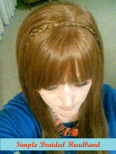 Simple braided headband