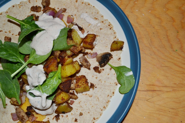 Healthy Ground Turkey and Potato Wrap