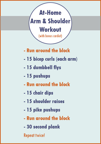 At Home Arm Workout with Cardio