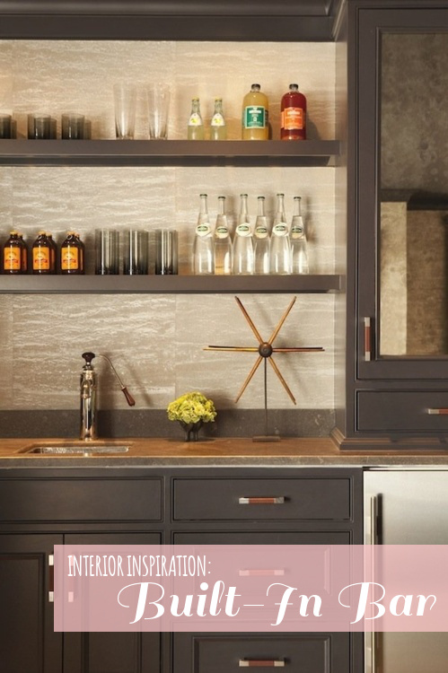 Bar with gray cabinets