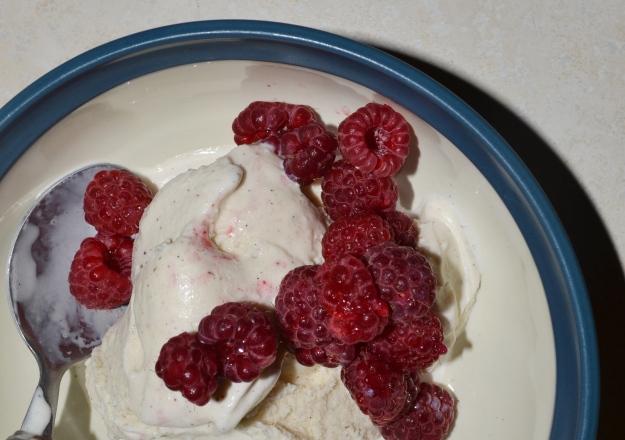 Raspberries and Ice Cream
