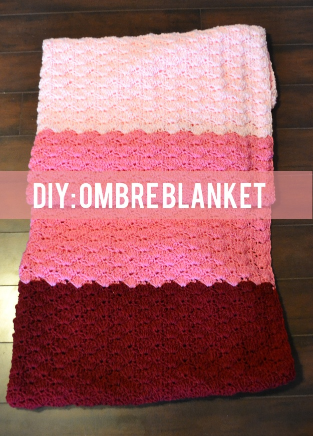 DIY Ombre Blanket