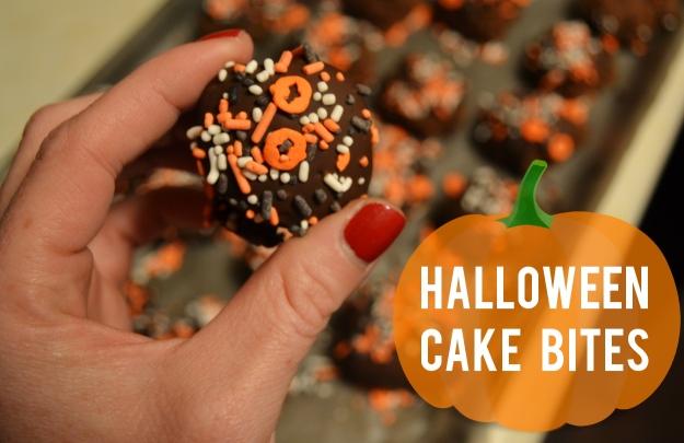 Halloween Cake Bites