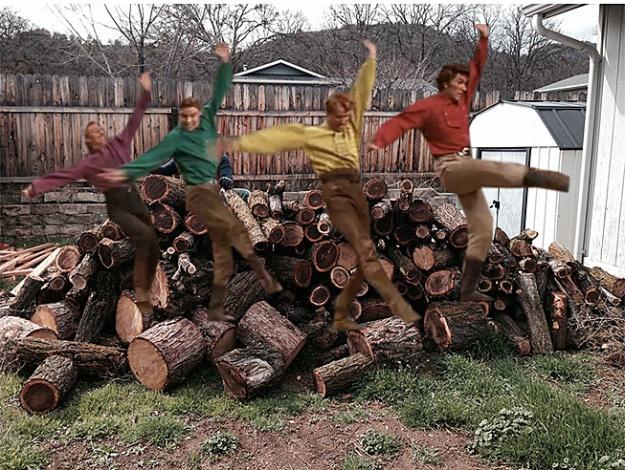 Wood pile dancing