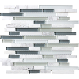 allen + roth Venatino Mixed Material Mosaic Wall Tile