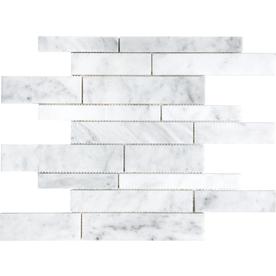 White Venatino Marble Natural Stone Mosaic Wall Tile