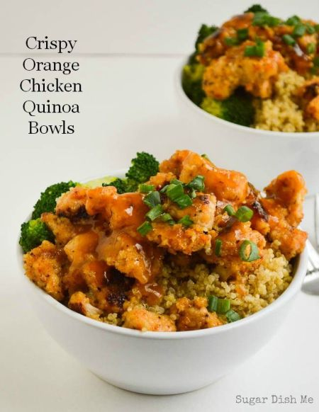 Source Crispy Orange Chicken Quinoa Bowls