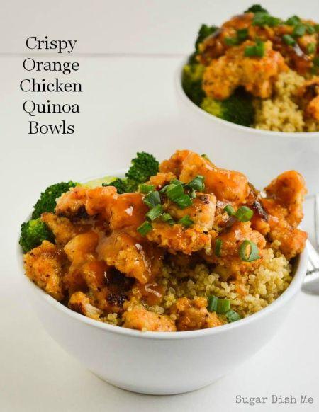 Source Crispy Orange Chicken Quinoa Bowls