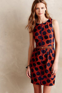 Maeve Orange Dot Dress